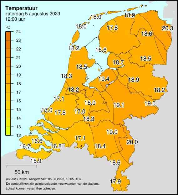 temperatuur in Nederland