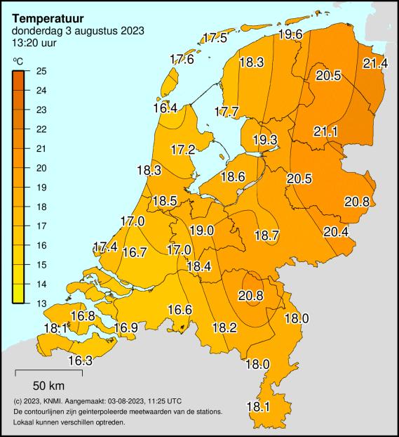 Temperatuur (°C)