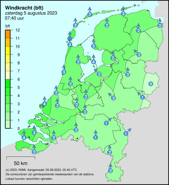 windsnelheid Nederland