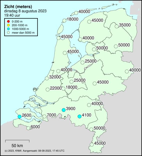 Actuele zichtwaarden in Nederland