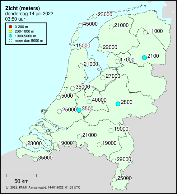 Actuele zicht in Nederland