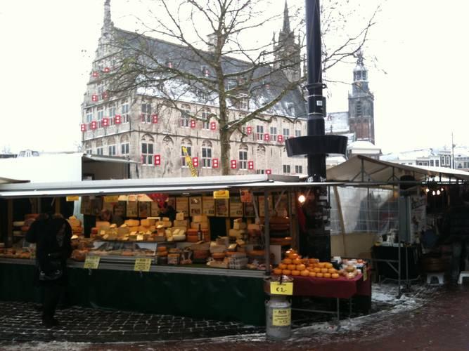 Markt in Gouda, december 2010