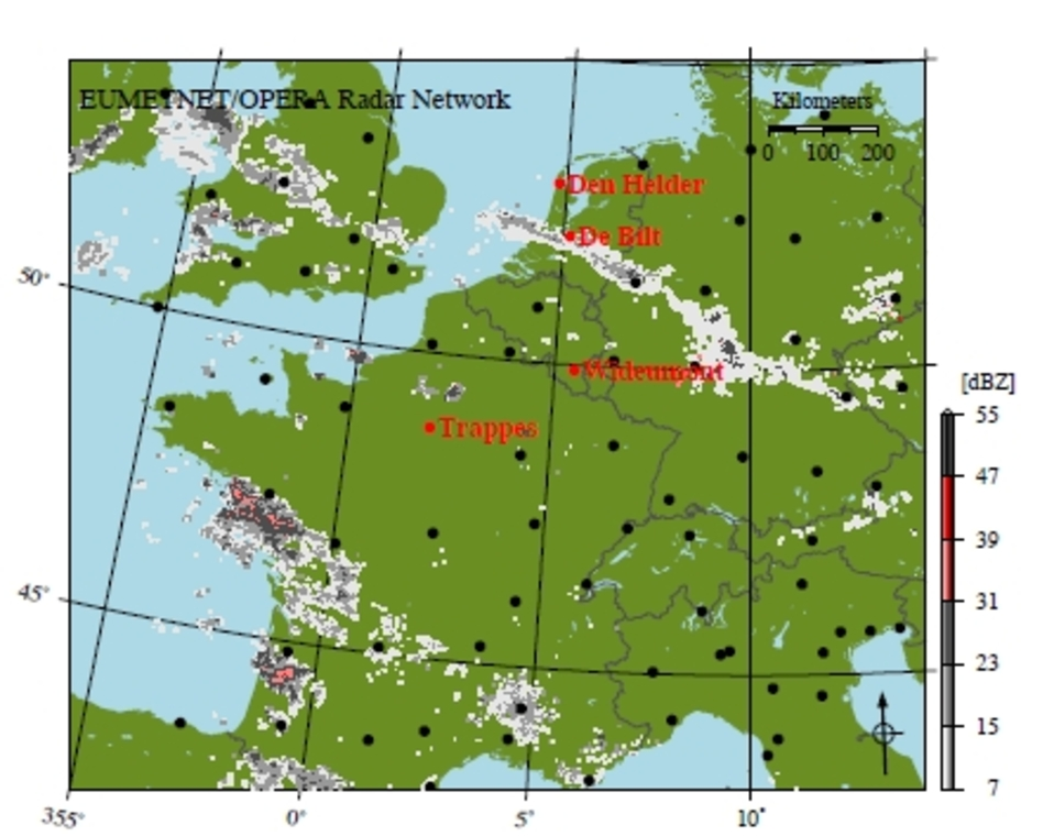 KNMI Monitoring Bird Migration By Weather Radar - Weather patterns map us and bird migration