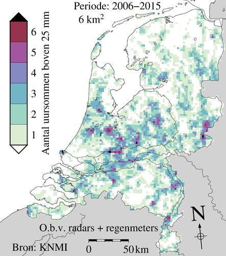 Radaranalyse wolkbreuken periode 2006 - 2015