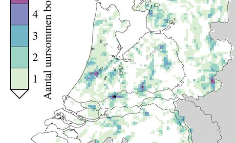 Radaranalyse wolkbreuken periode 2006 - 2010