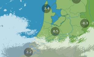 Figuur 2: Beeld van de neerslagradars van het KNMI om 09 uur MET