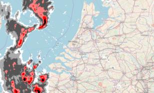 Figuur 2: Beeld van de neerslagradars van het KNMI om 18 uur LT