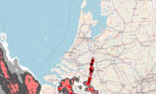 Figuur 2: Beeld van de neerslagradars van het KNMI om 22 uur
