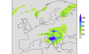 Figure 2: Precipitation in Europe 13-16 May 2014 [mm/4day], ECMWF analysis.