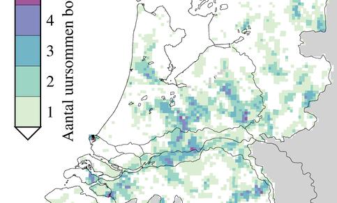 Radaranalyse wolkbreuken periode 2011 - 2015