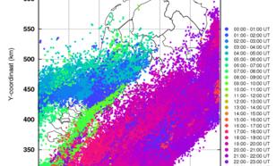 Kaart 6: Geregistreerde bliksemontladingen op 23 juni 2016
