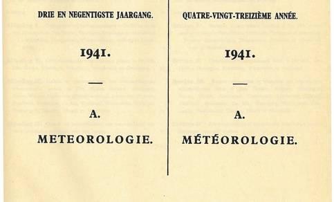 Jaarboek uit 1941 niet van het KNMI maar van het NMI