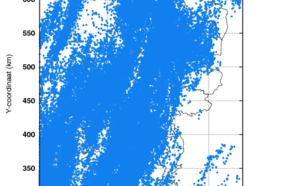 Figuur 7: Geregistreerde bliksemontladingen op 4 juni 2019