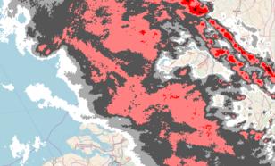 Figuur 4: Beeld van de neerslagradars van het KNMI om 01.30 uur (6 juni)