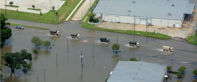 Overstromingen in Lousiana in augustus 2016