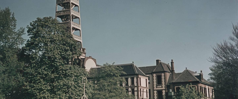 Het KNMI gebouw in 1944
