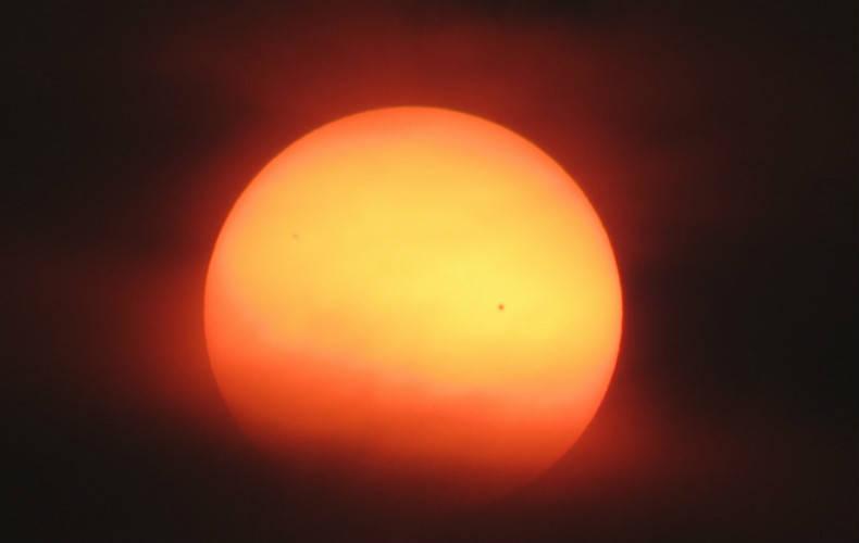 Foto van een zichtbare zonnevlek