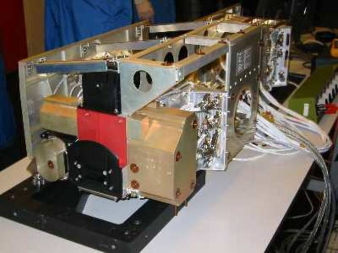 Het OMI instrument (foto: Dutch Space & TNO-TPD)