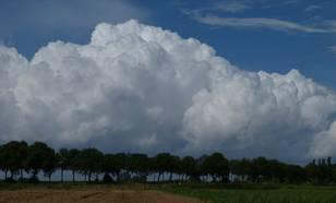foto van intensieve buien in polaire lucht in augustus 2011