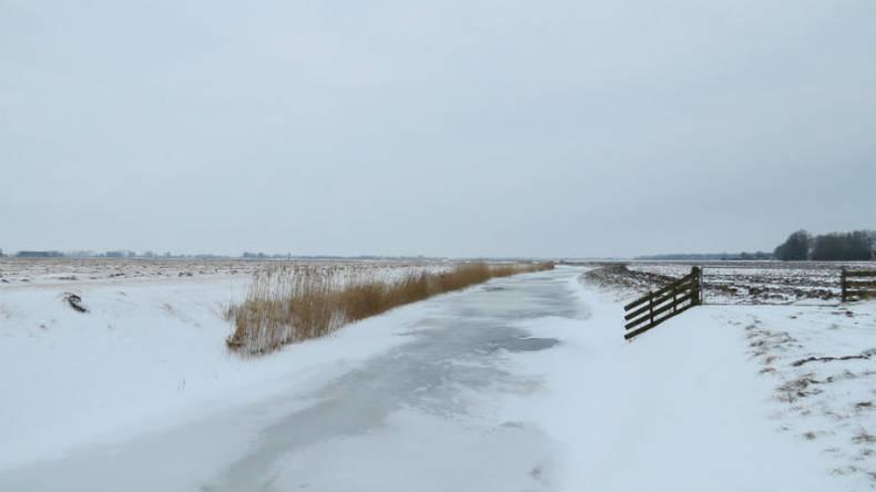 Sneeuw belemmert de aangroei van ijs