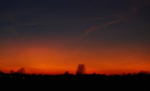 Polaire stratosfeerwolken boven Deventer (Bron: Peter Paul Hattinga Verschure)
