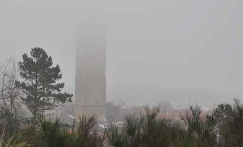 Een afbeelding van stratus op West-Terschelling