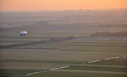 Zeppelin meet Nederlandse luchtkwaliteit in het kader van het onderzoekproject PEGASOS