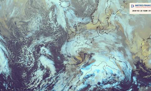 Satellietbeeld storm Xynthia