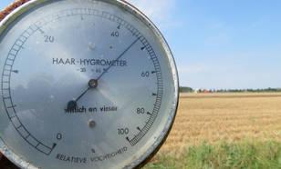 Haarhygrometer meet de relatieve vochtigheid