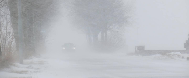Stuifsneeuw leidt tot slecht zicht