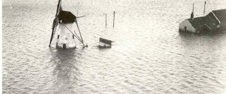 Serooskerke op Schouwen-Duiveland tijdens de Watersnoodramp van 1953