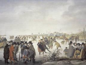 Kleine ijstijd - Schilderij IJsvermaak van Barent Avercamp (1612-1679)