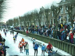 Elfstedentocht 1997 in Sloten (Bron: Weather Pictures International/Jacob Kuiper)