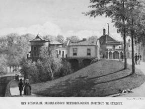 Het KNMI begon in 1854 op de Sonnenborgh in Utrecht ©KNMI