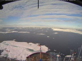 Drijvend ijs op 20 augustus 2012 in de Arctische Zee (Bron: US Coast Guard)
