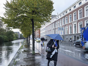 Regen in de stad ©KNMI/Tineke Dijkstra