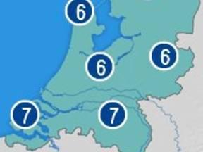 Het weercijfer geeft een beeld van de regionale kwaliteit van het weer (Bron: WeerOnline.nl)