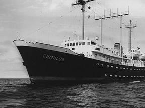 Het laatste Nederlandse weerschip Cumulus (Bron: RTV Utrecht)