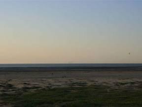Luchtspiegeling bij Ameland (Bron: RWS Waddenzee/Lieuwe Klabbers)