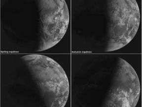 De vier seizoenen (Bron: Eumetsat)