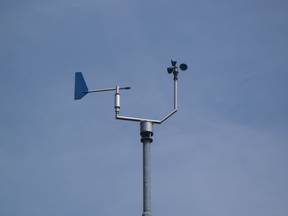 Anemometer meet windsnelheid  ©KNMI