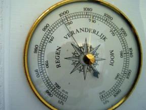 Afbeelding van een barometer (foto: Jannes Wiersema)