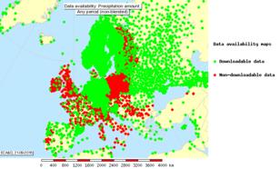 Figure 1: Station locations in ECA&D providing daily precipitation sums.