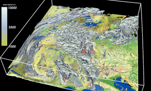 Weather 3D eXplorer:  Meteo-data above Europe