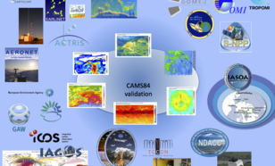 Fiig 1: Overview of the observational datasets used to evaluate the CAMS products (
