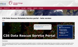 C3S Data Rescue Service Portal