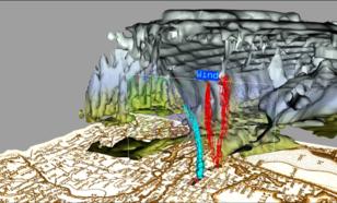 W3Dx:  Vulcanic-ash particals above Europe