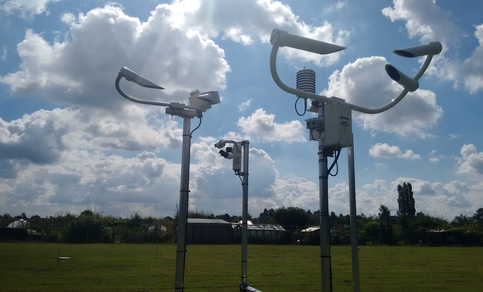 Present Weather Sensors under evaluation at the test field in De Bilt.