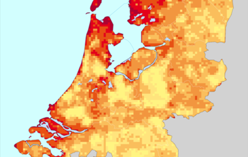 Local Wind Map.Knmi Interpolating Wind Speed From The Sparse Dutch Network To A
