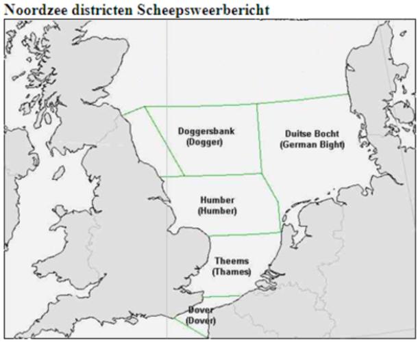 kaart met Districten scheepsweerbericht